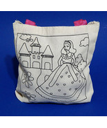 Color Your Own Princess Canvas Tote Bag w/ Markers Kids Arts Crafts Pers... - $6.99