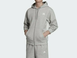 Adidas Originals Men's 3-Stripes Hoodie NEW AUTHENTIC Grey Heather/White... - $64.99