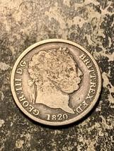 1820 Great Britain 2 Shilling Lot#Q9858 Silver! - $23.38