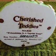 "1992 Enesco P Hillman's Cherished Teddies Marie # 910767  "" Friendship  Is A Spe image 6"