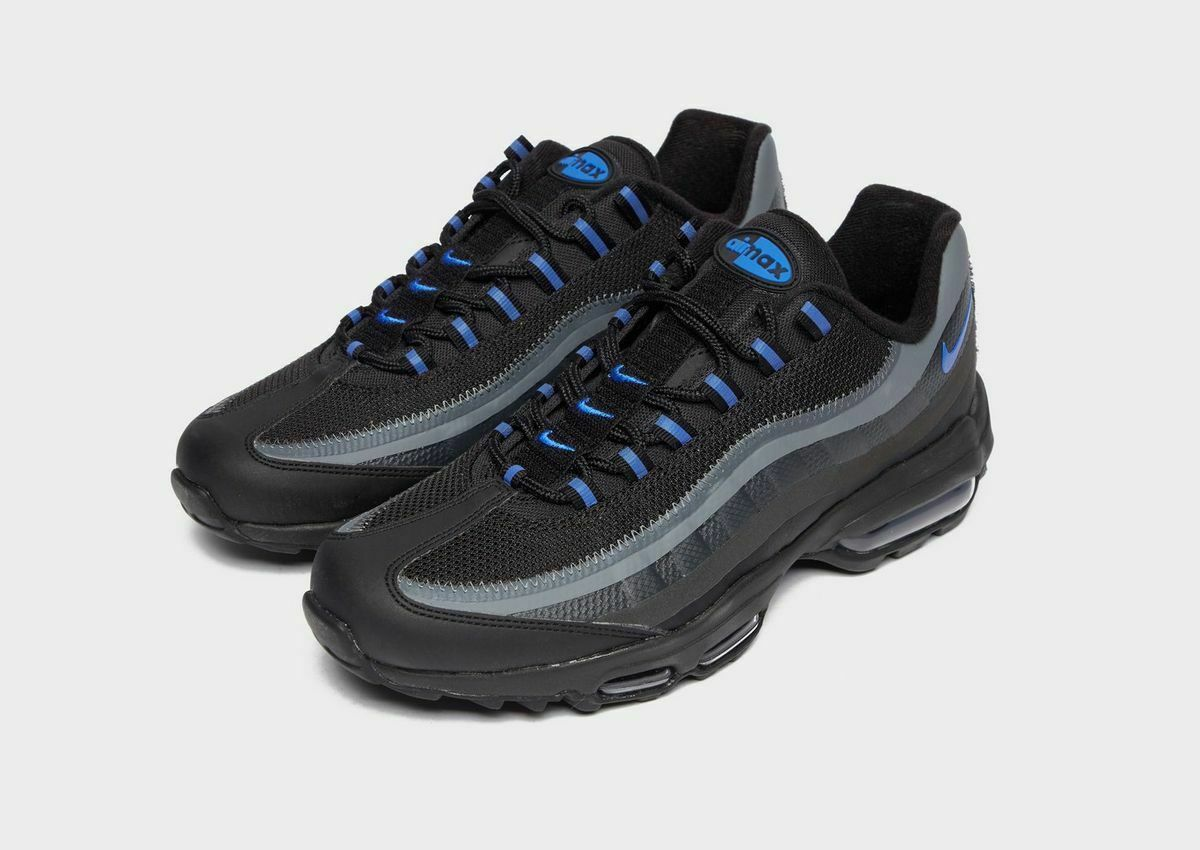 Nike Air Max 95 Ultra Se Black / Grey /Blue Premium Trainers / Shoes image 2