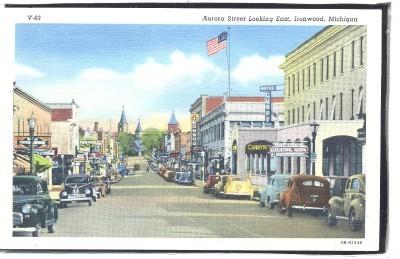 Aurora street looking east, IRONWOOD, Michigan  1.40