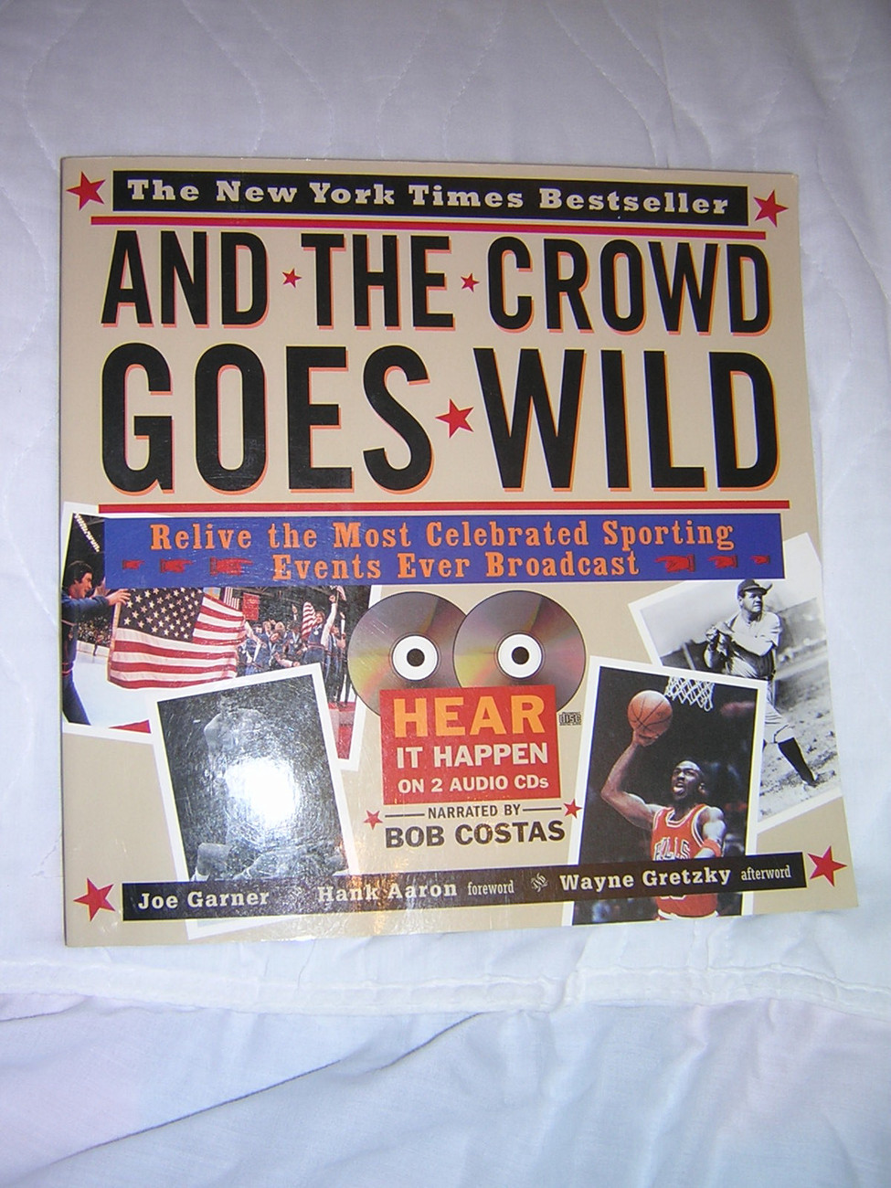 """AND THE CROWD GOES WILD"" Book with 2 CDs, Like New"