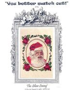 Santa Cross Stitch Chart from The Silver Lining - $5.00