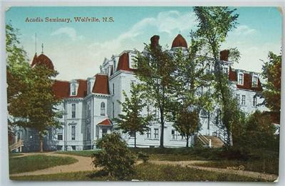 1918 PC Acadia Seminary, Wolfville, Nova Scotia