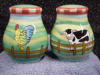 Farm Scene Salt & Pepper Shakers