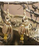 Pagan Wicca Jade & Agate Magic Potion Charm Earrings - $4.99
