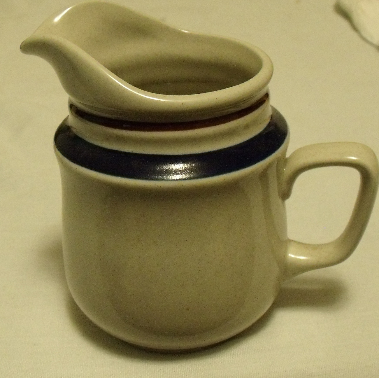 Chateau by Yamaka Hand Painted Stoneware Contemporary Colbalt Blue Creamer