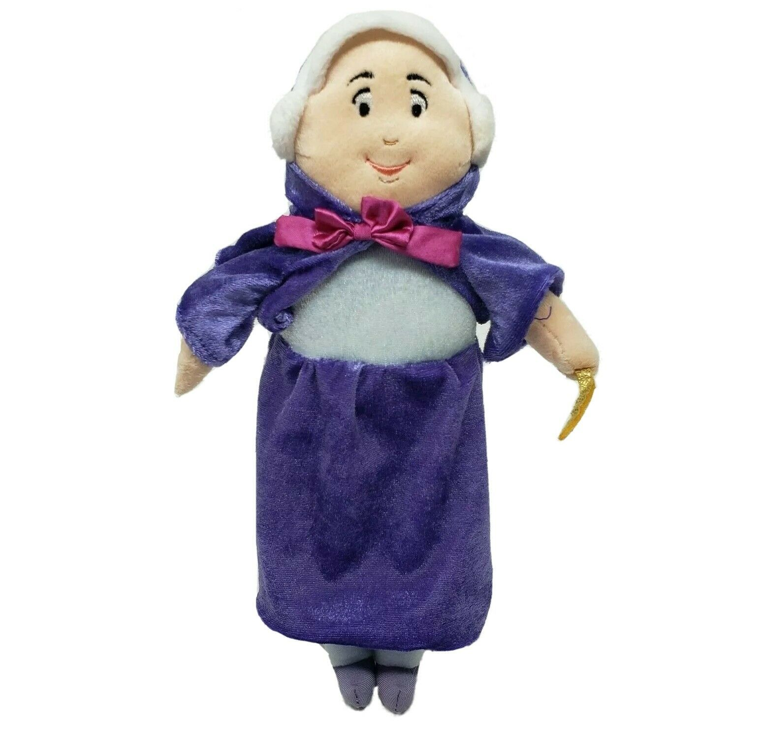 "10"" DISNEY STORE CINDERELLA XS FAIRY GODMOTHER DOLL STUFFED ANIMAL PLUSH TOY - $64.15"