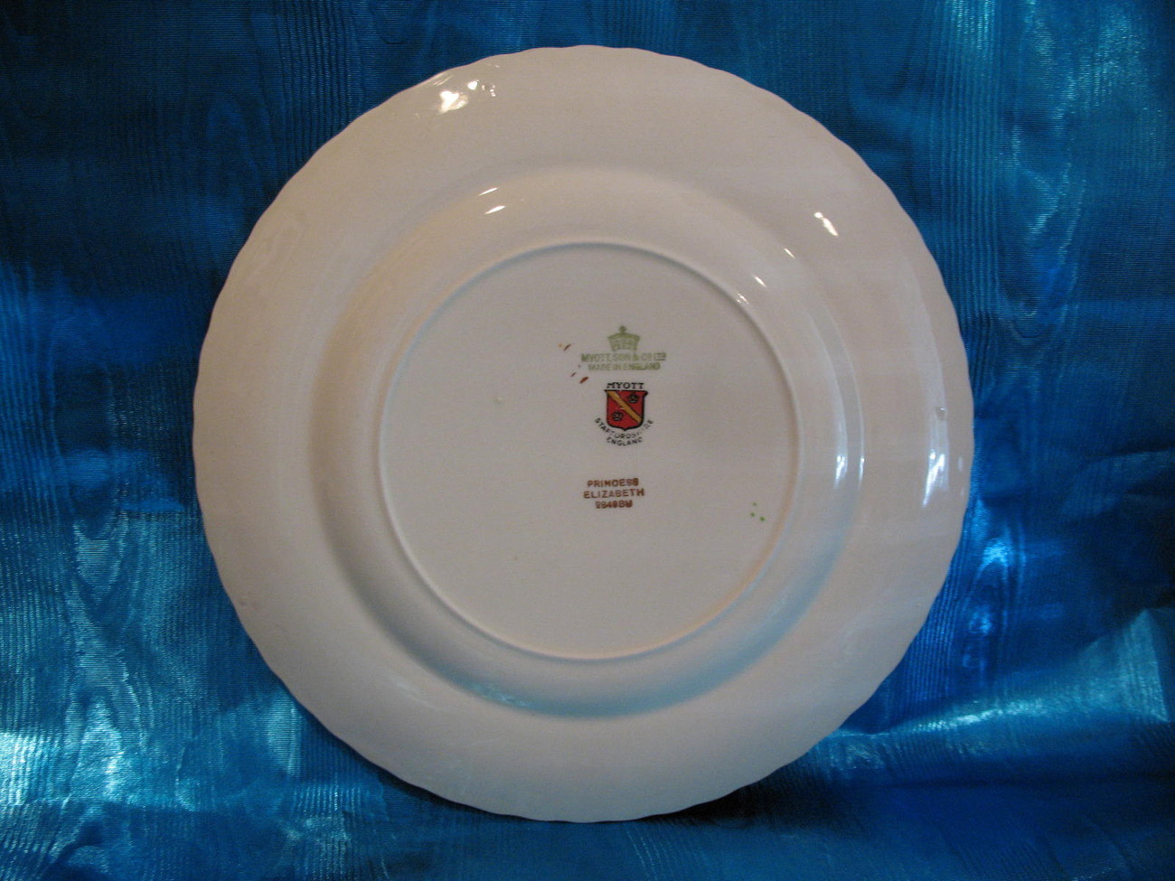Princess Elizabeth Dinner Plate Myott Son & Co. Ltd England Vintage Collector