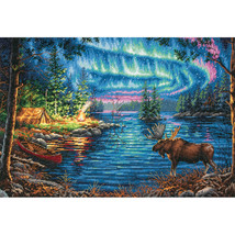 """Dimensions Gold Collection Counted Cross Stitch Kit 16""""X11""""-Northern Night (16 C - $54.54"""