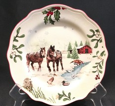 "1 Better Homes & Gardens Heritage Collection Christmas Horses  8-3/4"" Plate - $12.99"