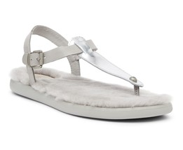 UGG Sandals Thong Shearling Lou Lou Silver Size 7 NEW $80 - $64.35