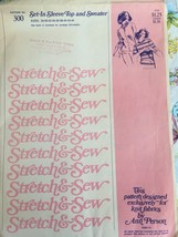 Stretch & Sew Sewing Pattern 300 Ann Person Set-in Sleeve Top Sweater Uncut Knit image 1