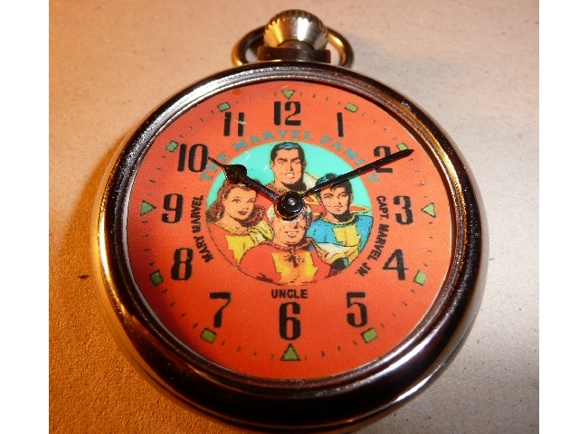Old Marvel Family character dial pocket watch