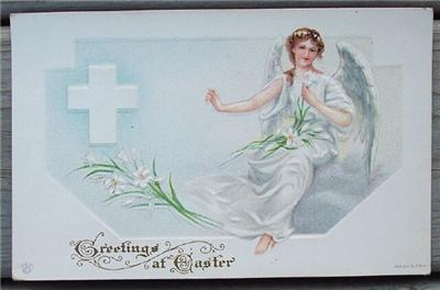 1910's Post Card Easter Angel James E Pitts