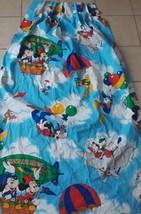 Vtg Disney Curtain Drape Pleated Huey Dewey Louie Mickey Mouse Dumbo Nur... - $16.20