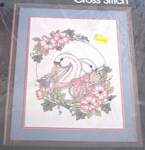 Golden Bee Swans and Flowers Stamped Cross Stitch Kit - $12.99