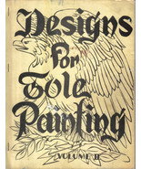 Vintage Book Designs for Tole Painting Vol II Patterns Instructions - $9.99