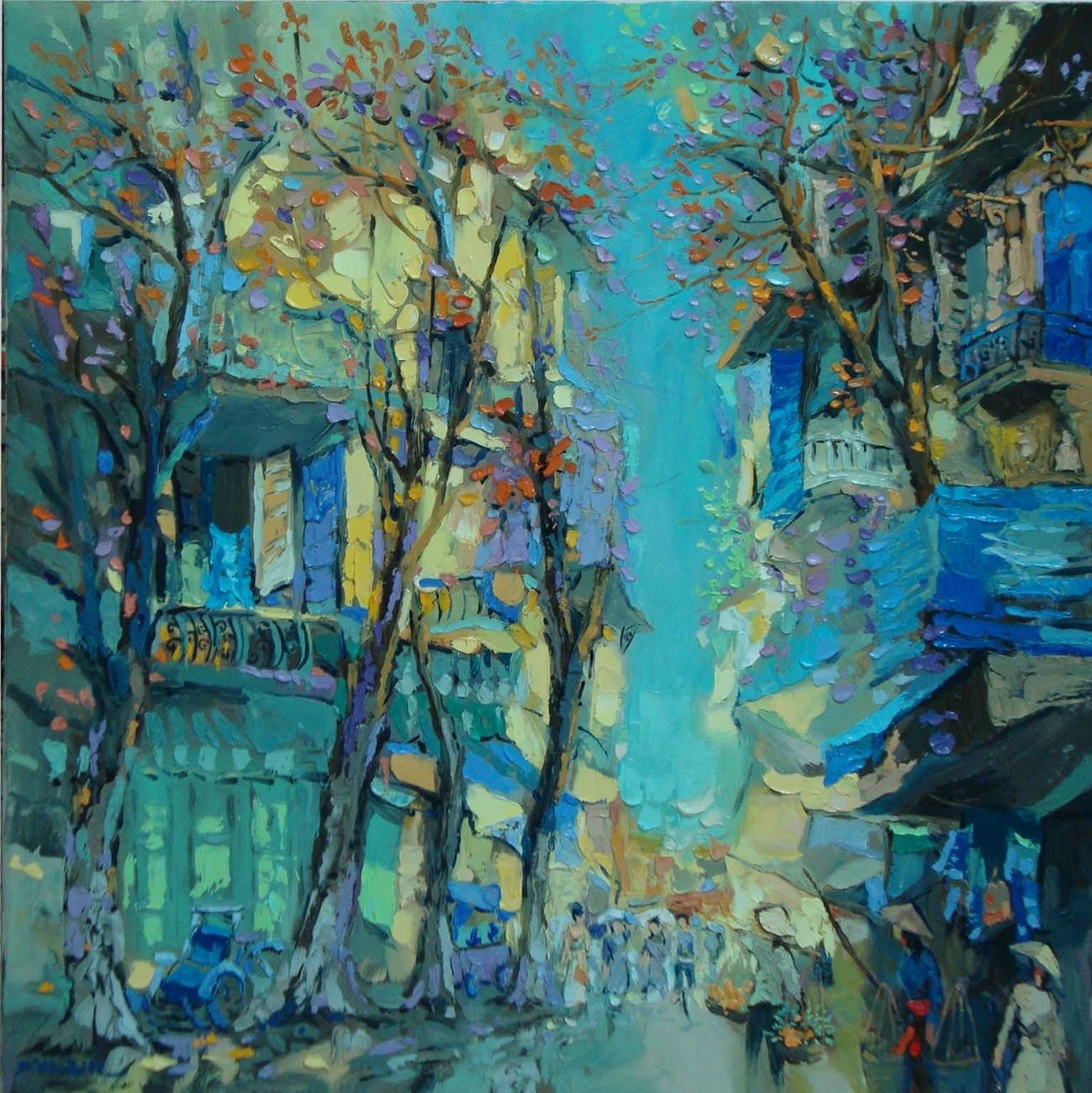 Hanoi town   90 x 90 cm