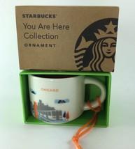 Starbucks 2016 Chicago You Are Here Ceramic Christmas ORNAMENT 2 oz Mini... - $28.41