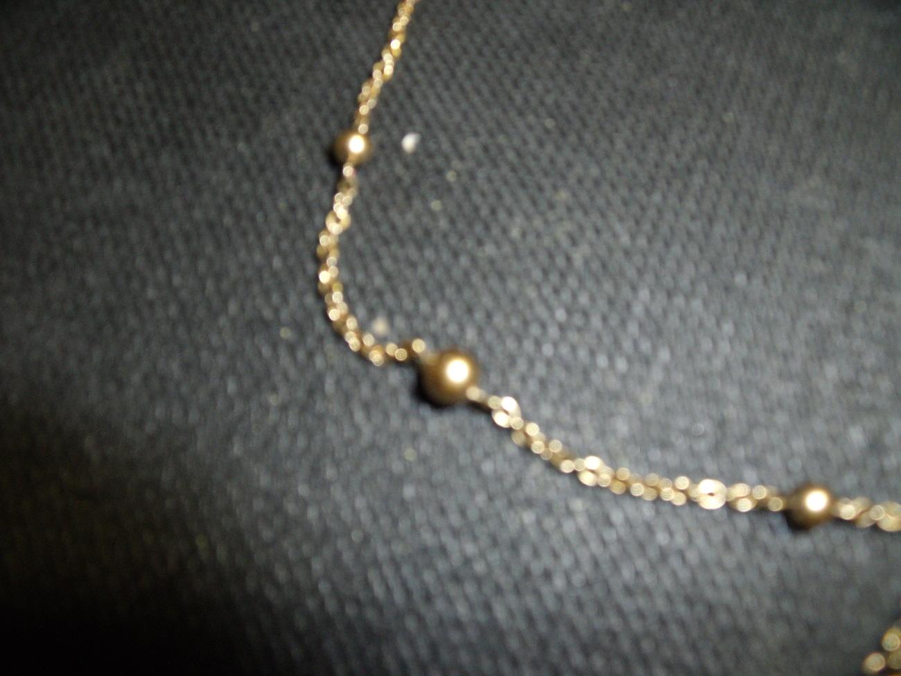 Vintage Monet Goldtone Beaded Necklace