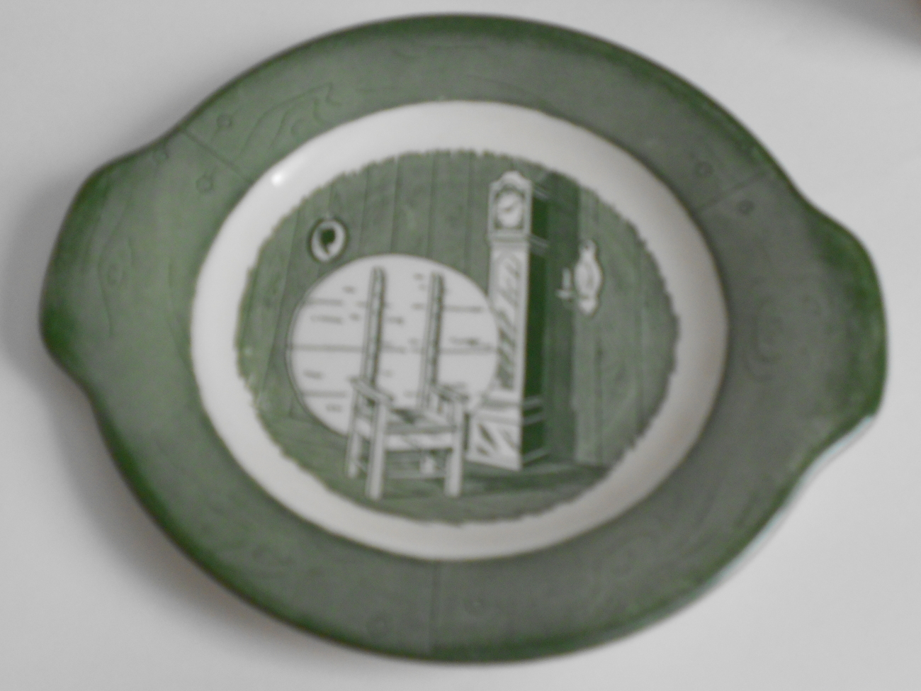 Colonial Homestead Gravyboat with Saucer by Royal