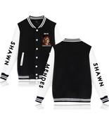 XXS-4XL Shawn Mendes Flower Show Printed Baseball Jacket Buckle Outwear ... - $19.00+
