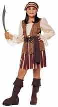 Deluxe Peasant Pirate Buccaneer Child Halloween Costume Girls Size Medium 8-10 - $26.76