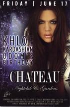 KHLOE KARDASHIAN @ CHATEAU Nightclub Las Vegas Promo  Card - $2.95