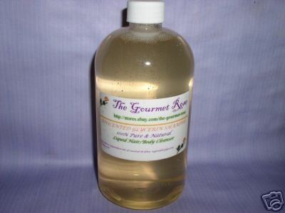 16 oz GLYCERIN SHOWER GEL Liquid Soap Hand Body Wash 100% Natural Pure Gentle