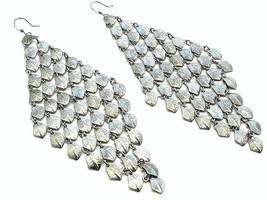 Chunky fish hook long chandelier fashion earrings pierc image 1