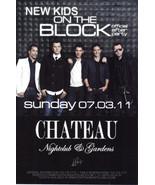 NEW KIDS ON THE BLOCK @ CHATEAU Nightclub Las Vegas Promo Card - $1.95