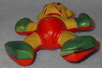 Celluloid Baby's Monkey Rattle Vintage Toy
