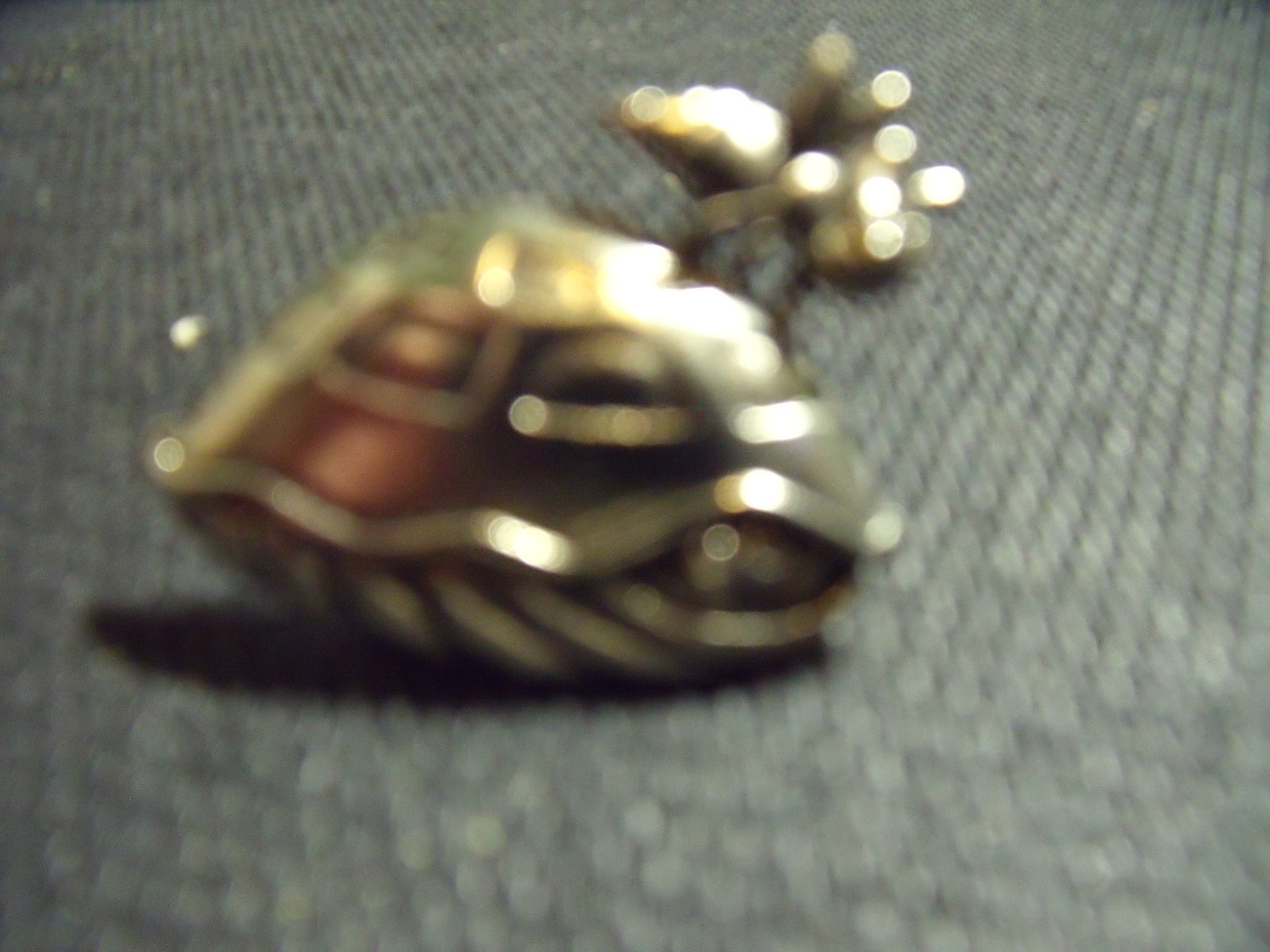 Turtle Pin- Whimsical Silver Turtle Shell Pin with Bee Vintage