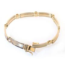 14K Yellow Gold Mens Fancy Link Bracelet - $1,402.83
