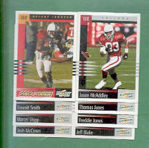 2003 Score Arizona Cardinals Football Team Set  - $2.00