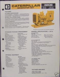 1984 Caterpillar 3208 Generator Set 75, 100kW Brochure