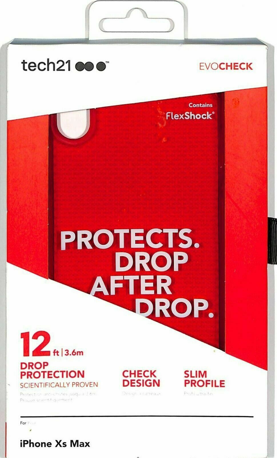 """Tech21 EvoCheck Case for Apple iPhone XS Max 6.5"""" ~ Slim Drop Protection 12ft"""