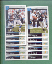 2003 Score Carolina Panthers Football Team Set