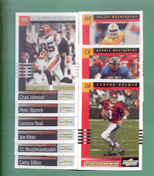2003 Score Cincinnati Bengals Football Team Set