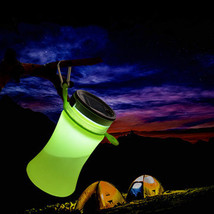 550ml Collapsible Silicone Waterproof Sport Water Bottle With Solar Ener... - £29.59 GBP