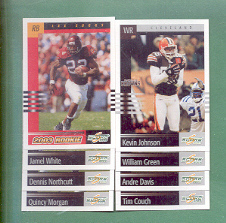 2003 Score Cleveland Browns Football Team Set