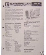 1985 Caterpillar 3208 Generator Set 100, 125kW Brochure - $6.00