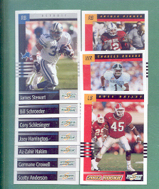 2003 Score Detroit Lions Football Team Set