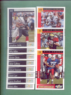 2003 Score Houston Texans Football Team Set