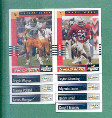 2003 Score Indianapolis Colts Football Team Set