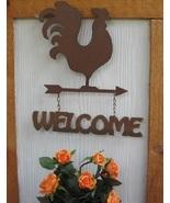 Rooster Welcome Plaque Weather Vane Sign Metal - $20.00