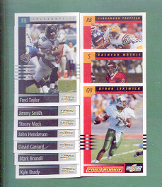 2003 Score Jacksonville Jaguars Football Team Set