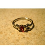 RING WOMENS LADIES GEMSTONE FAUX RED RUBY SOLIT... - $9.99